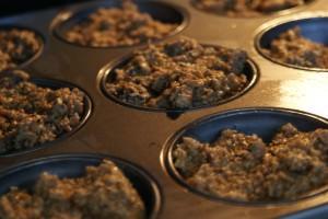 Haver en notencakejes in de oven
