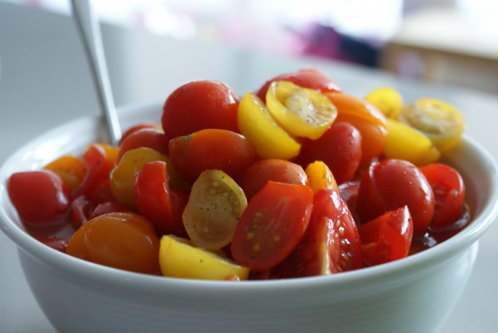 Tomatensalade zoet-zuur