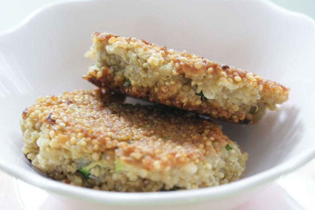 Quinoakoekjes met courgette