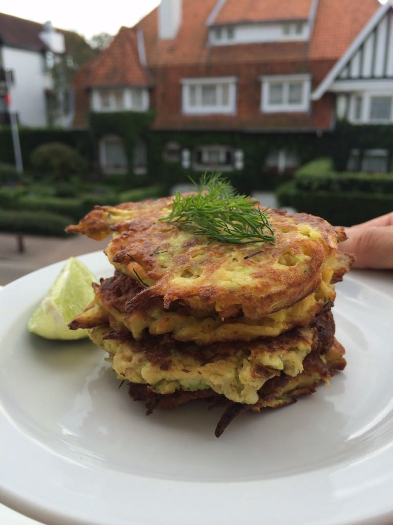 Chickpea and zucchini pancakes – yummie!