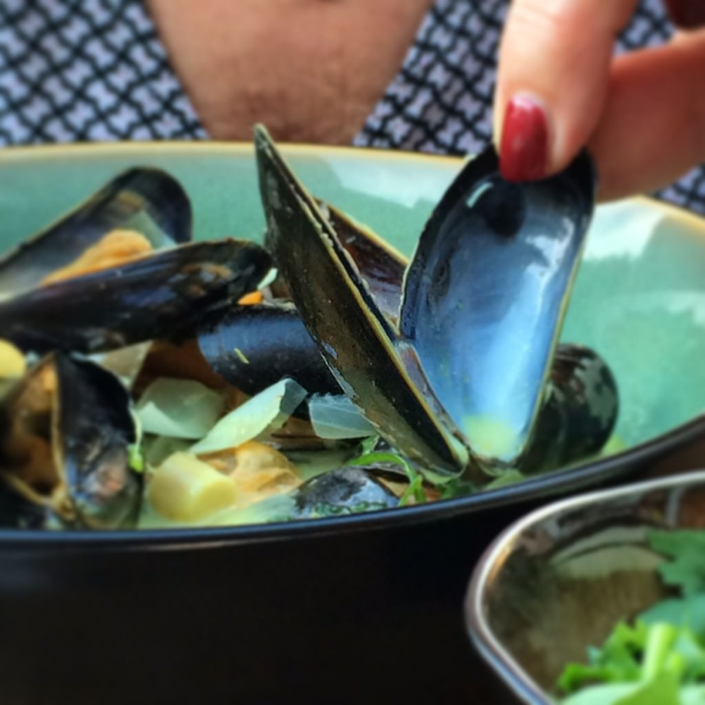 Thai flavored Mussels