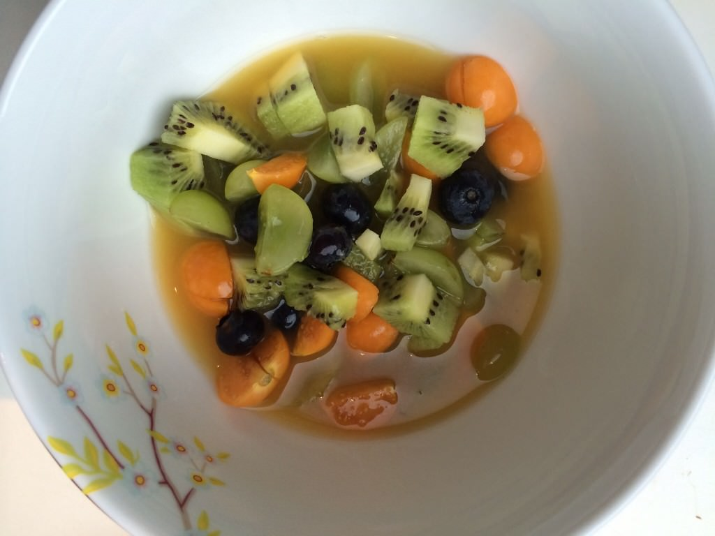 Sweet soup of citrus, cinnamon and star anise – what a dessert!