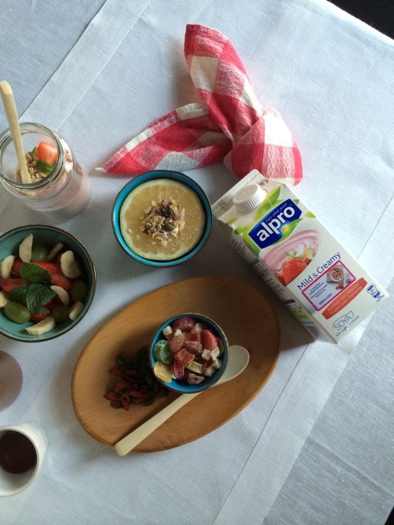 Healthy breakfast for a kid
