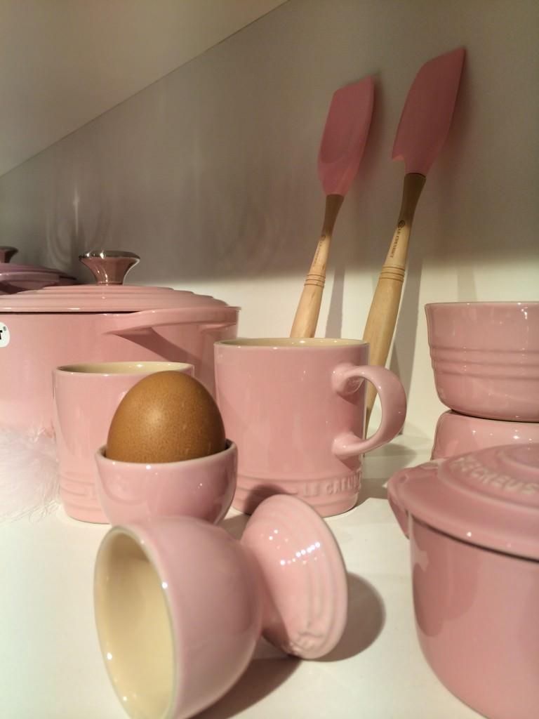 Pink Le Creuset line - just love it