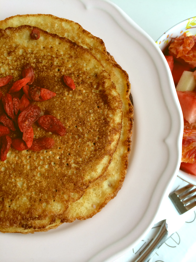 Power breakfast: oatmeal meets pancake