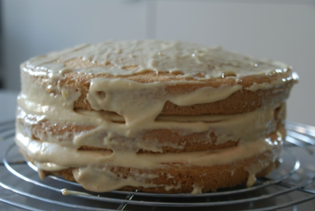 cake before icing