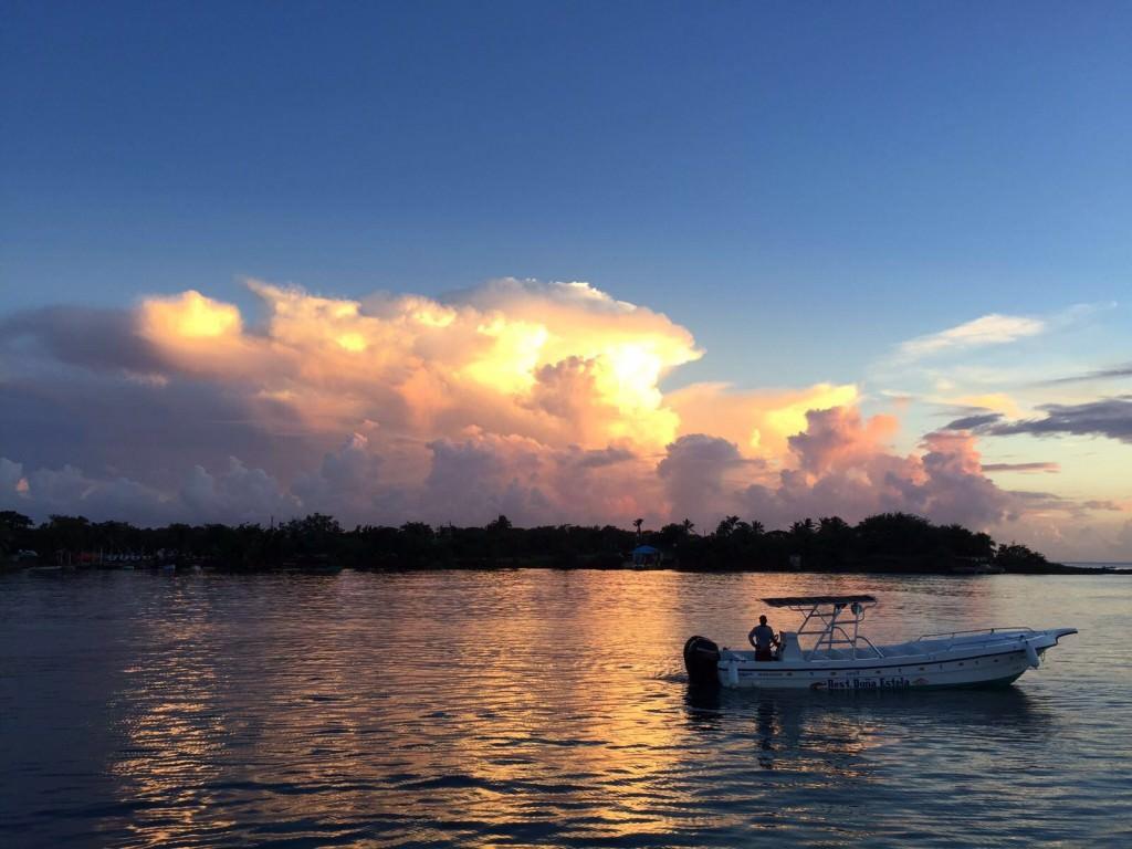 Sunset From The Catamaran