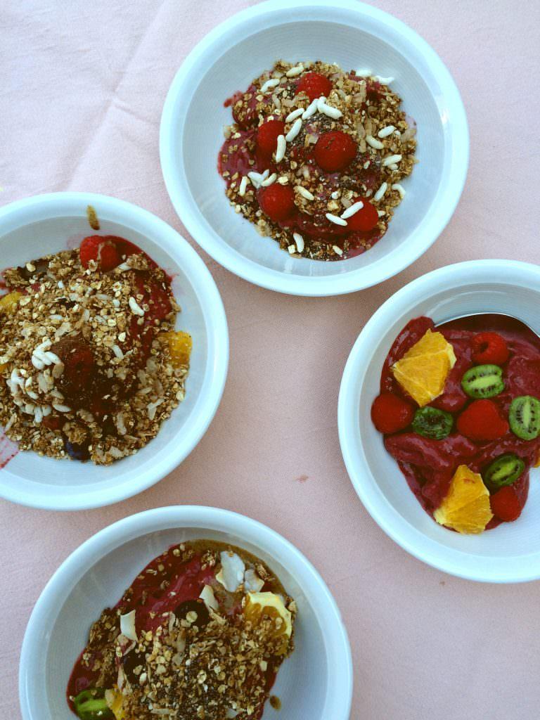 4 verschillende bowls