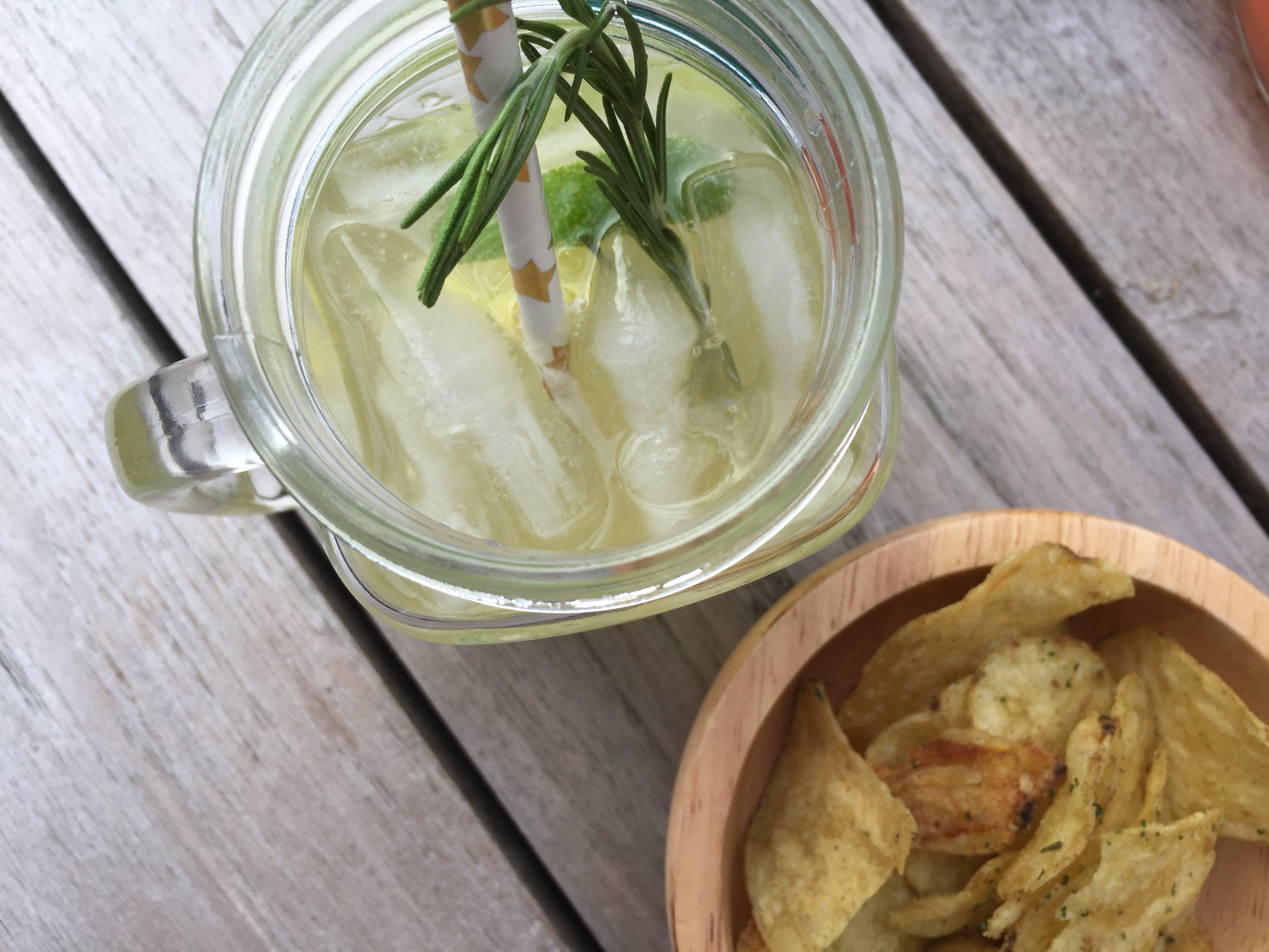Mocktail en chips