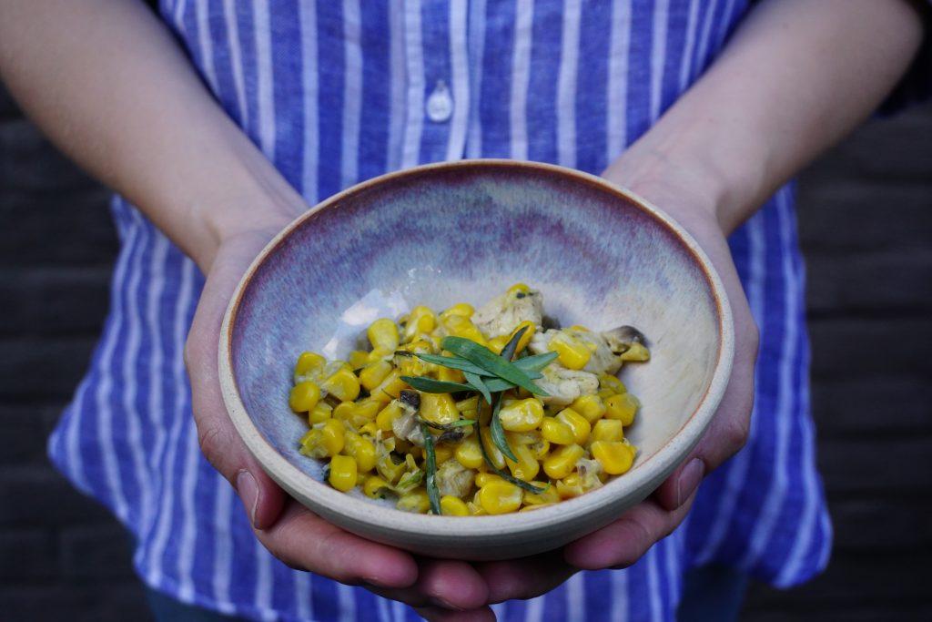Yummie stoofpotje met verse maïs en kip
