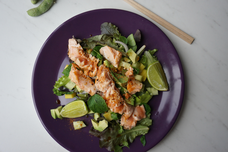 Aziatisch eten, salade, glutenfree