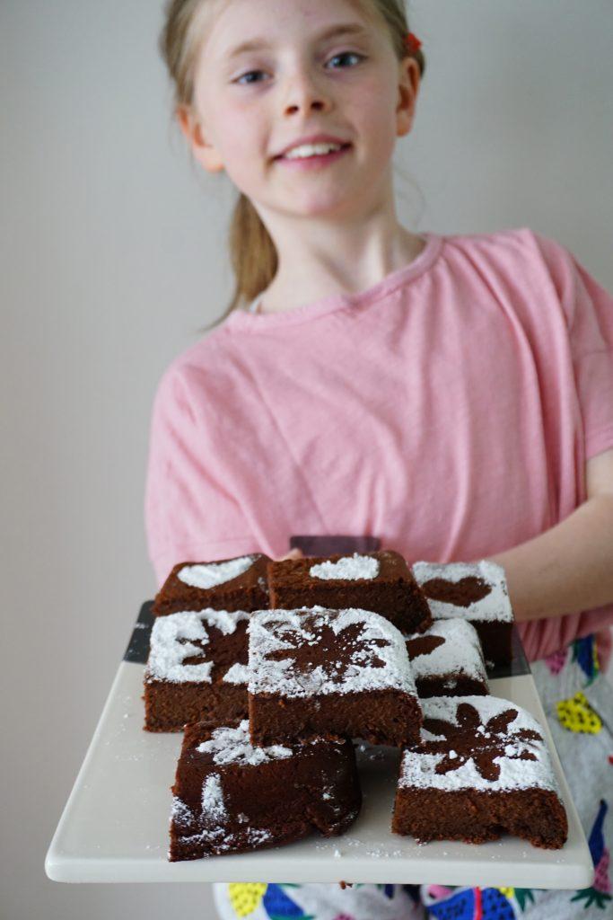 Smeuïge brownies voor moederdag