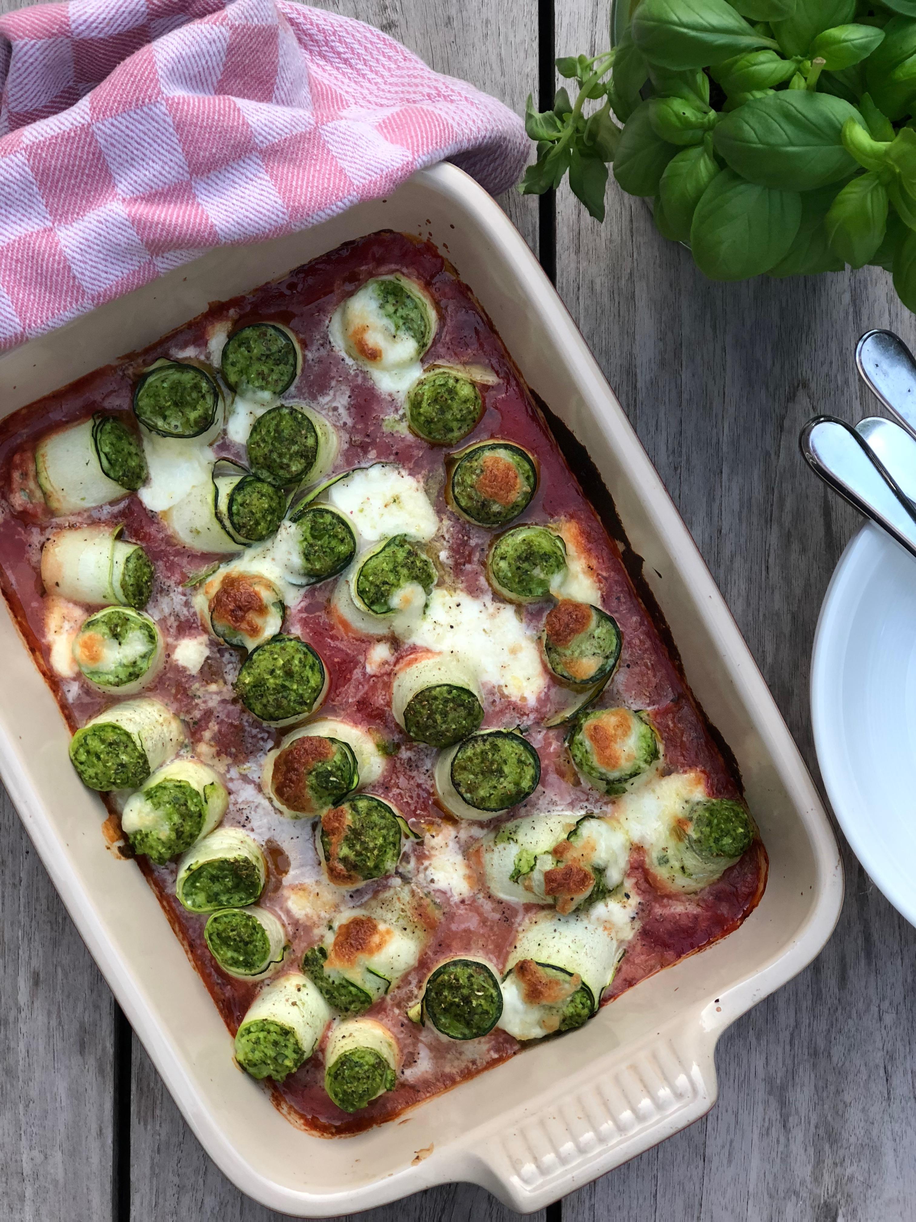 Glutenvrije Cannelloni met ricotta en spinazie