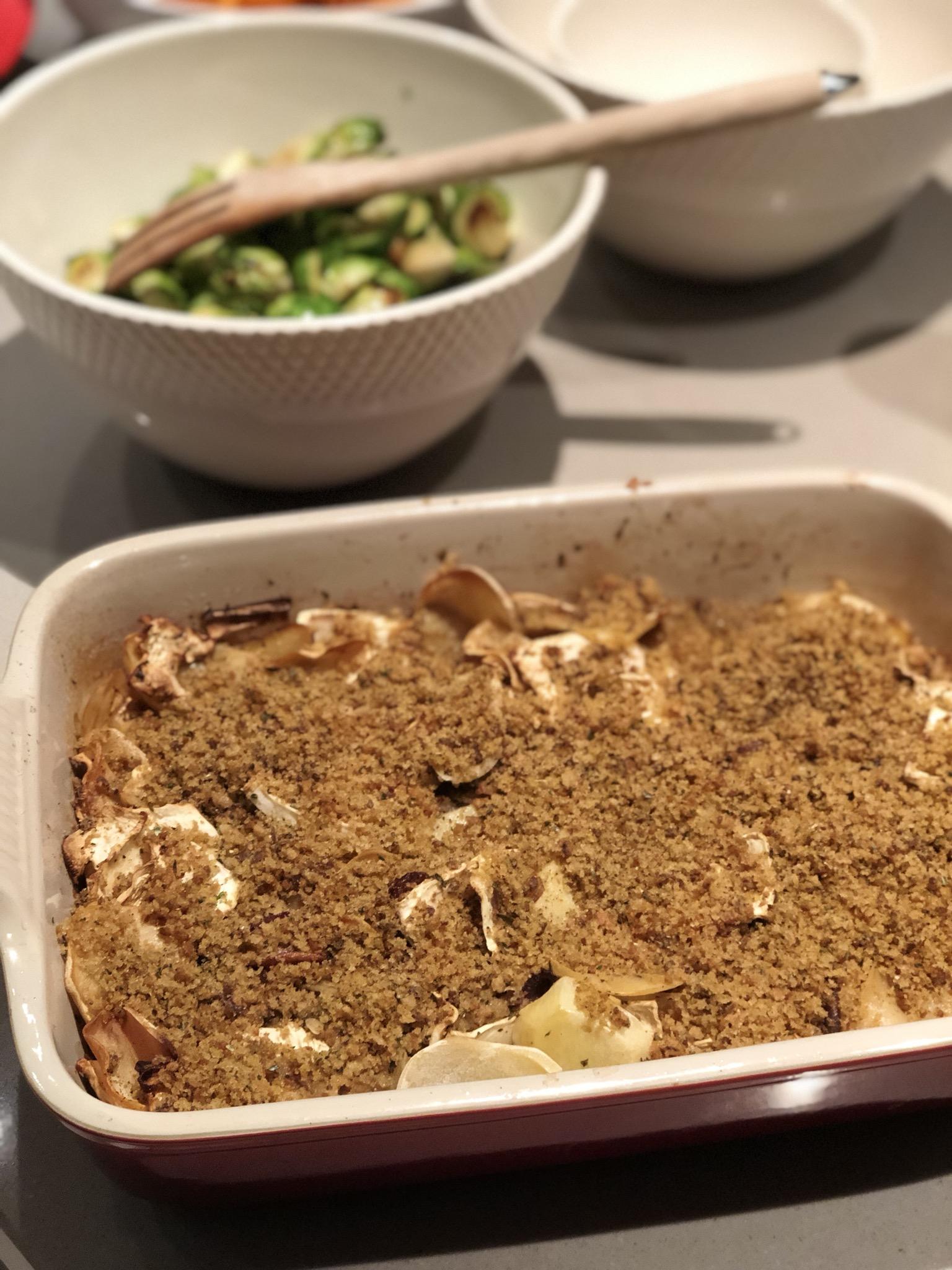 ovenschotel met aardappel en knolselder