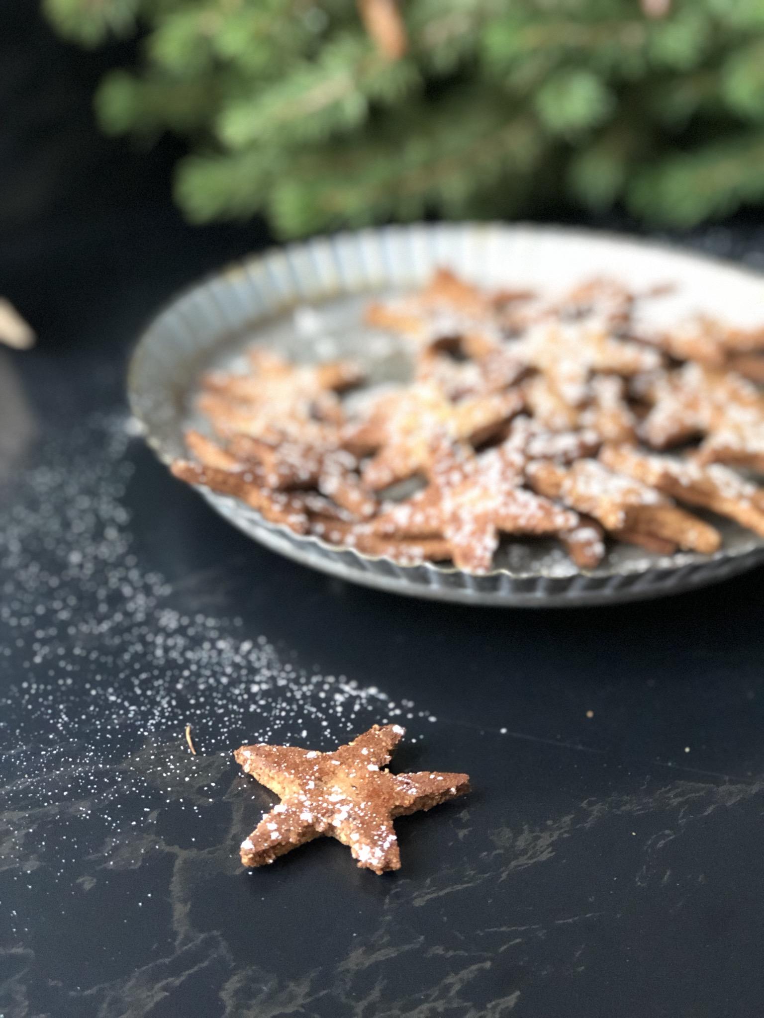 kerststerren - vegan koekjes - glutenvrije kerstkoekjes