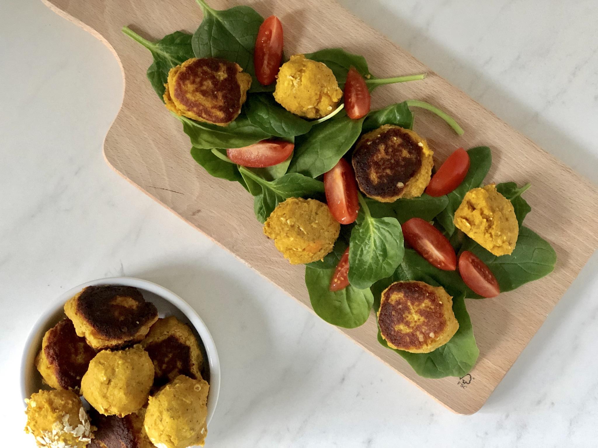falafels met zoete aardappel