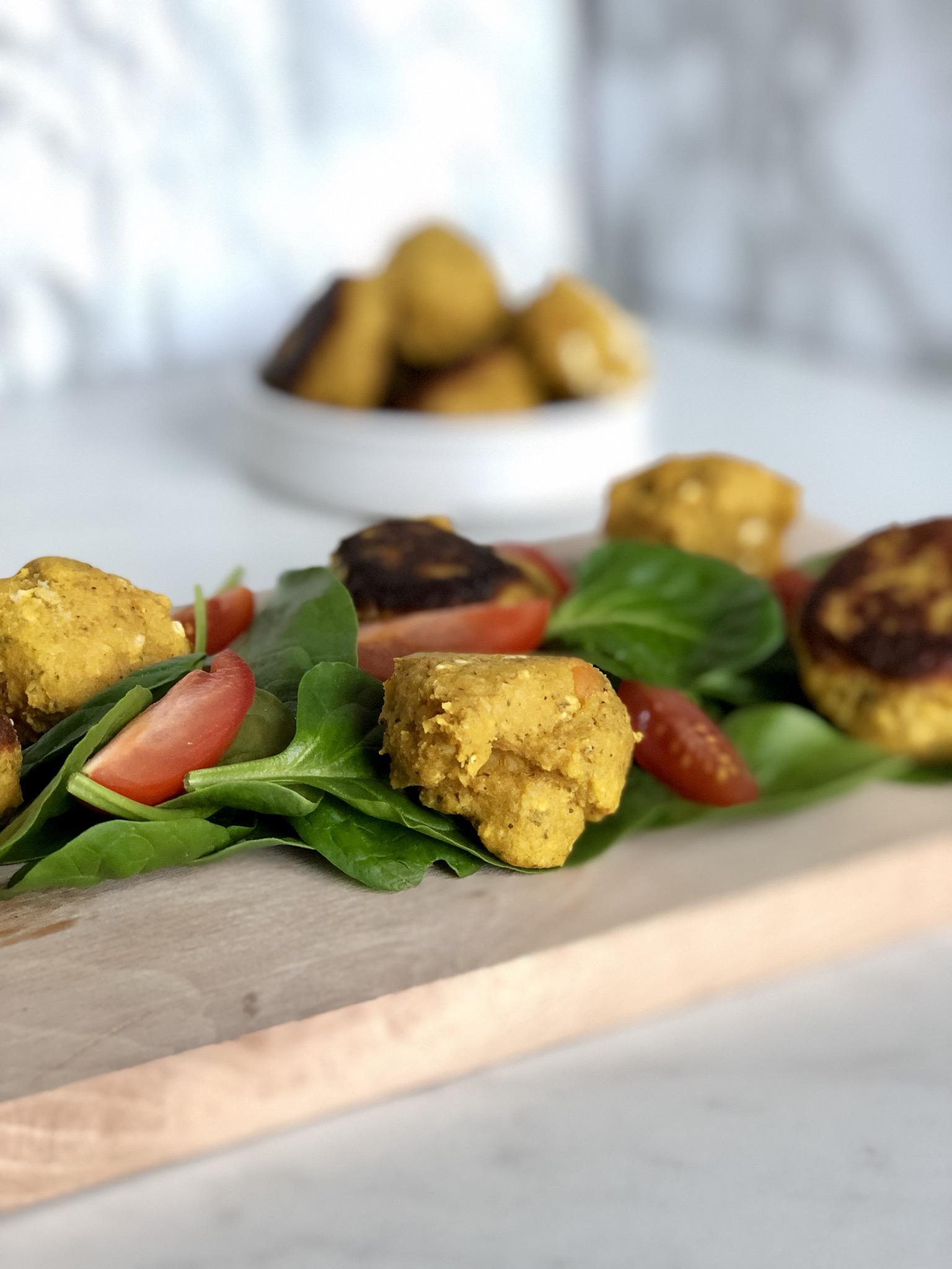 glutenvrije falafels met zoete aardappel