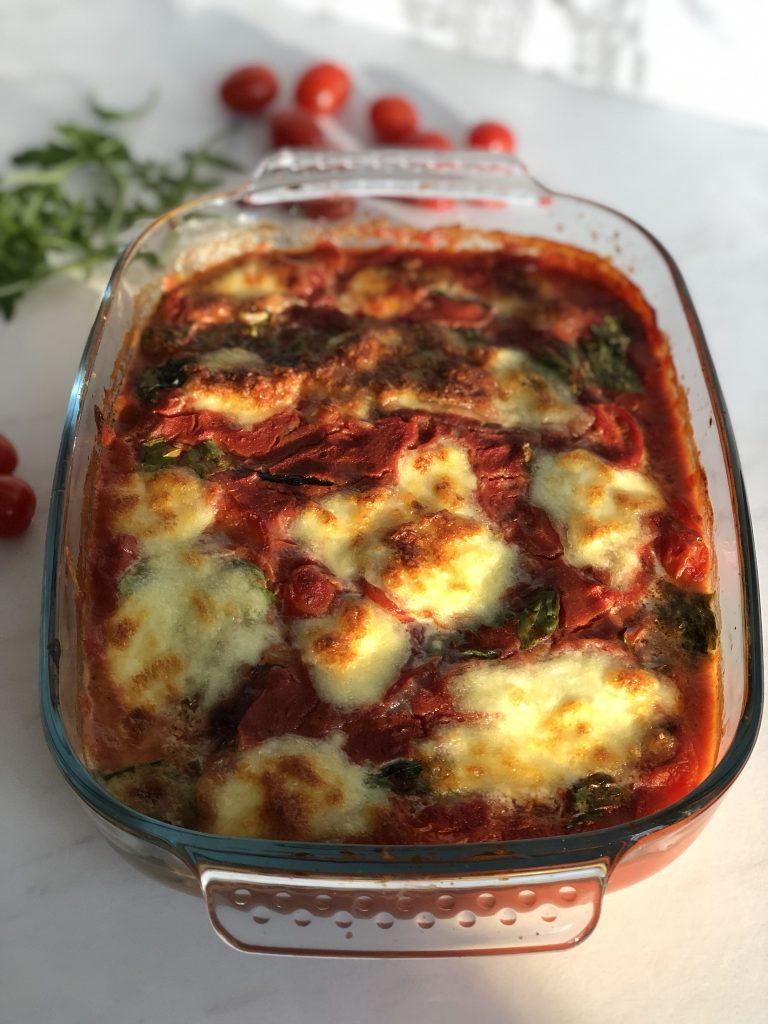 Ovenschotel met aubergine uit de Sanabox van Foodbag