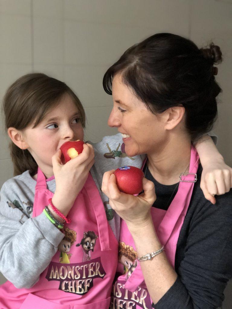 Koekjes met appel en esdoornsiroop