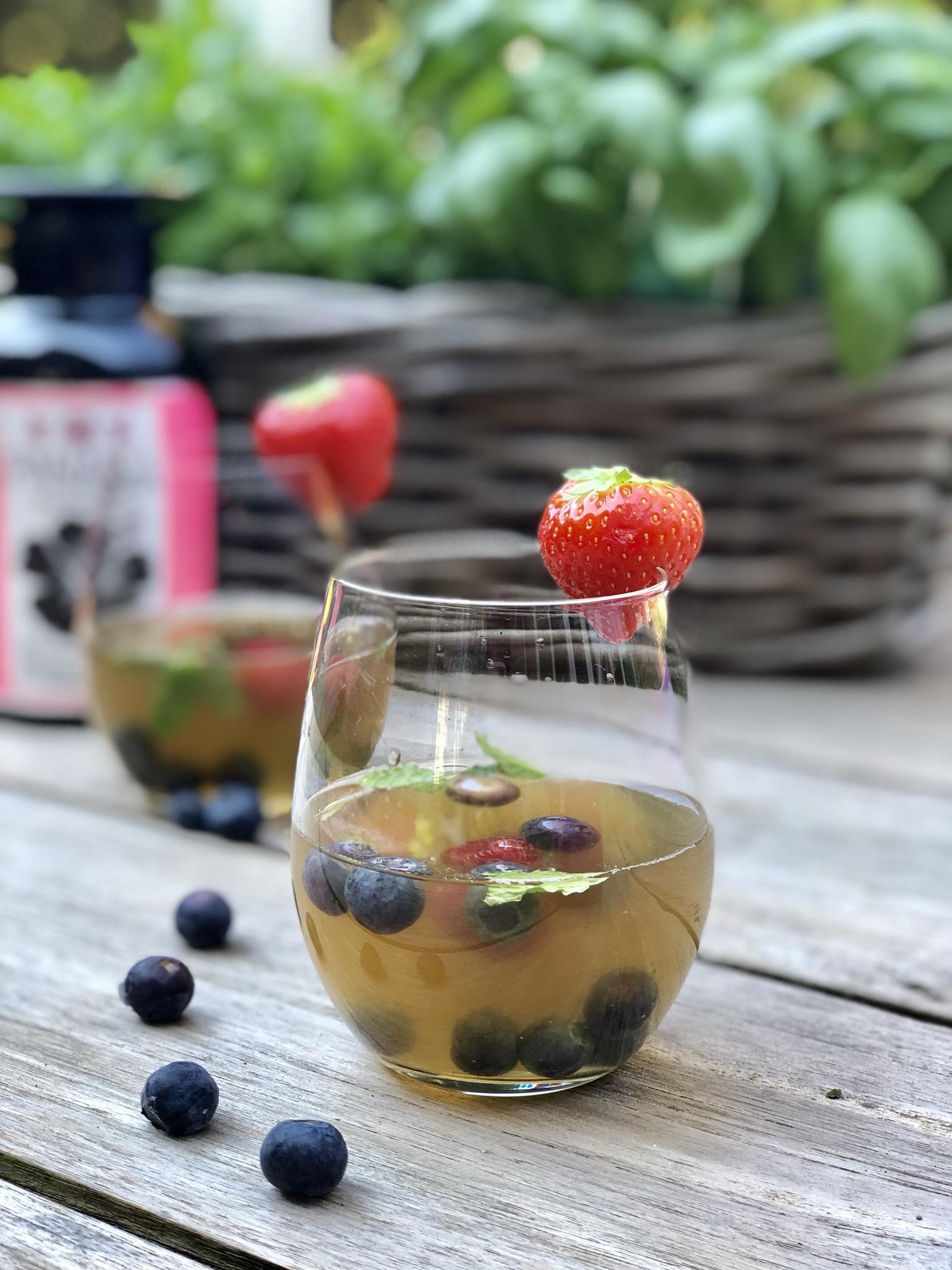 ice tea homemade met Gimber en limoen