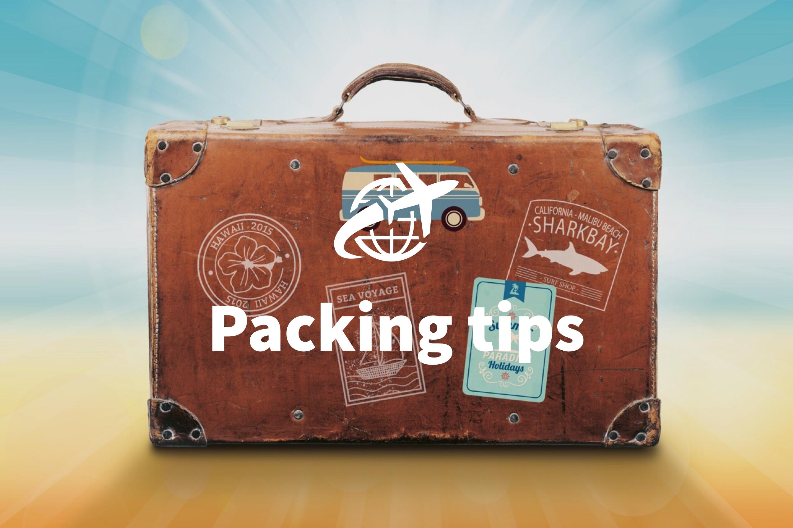 inpak tips voor op reis