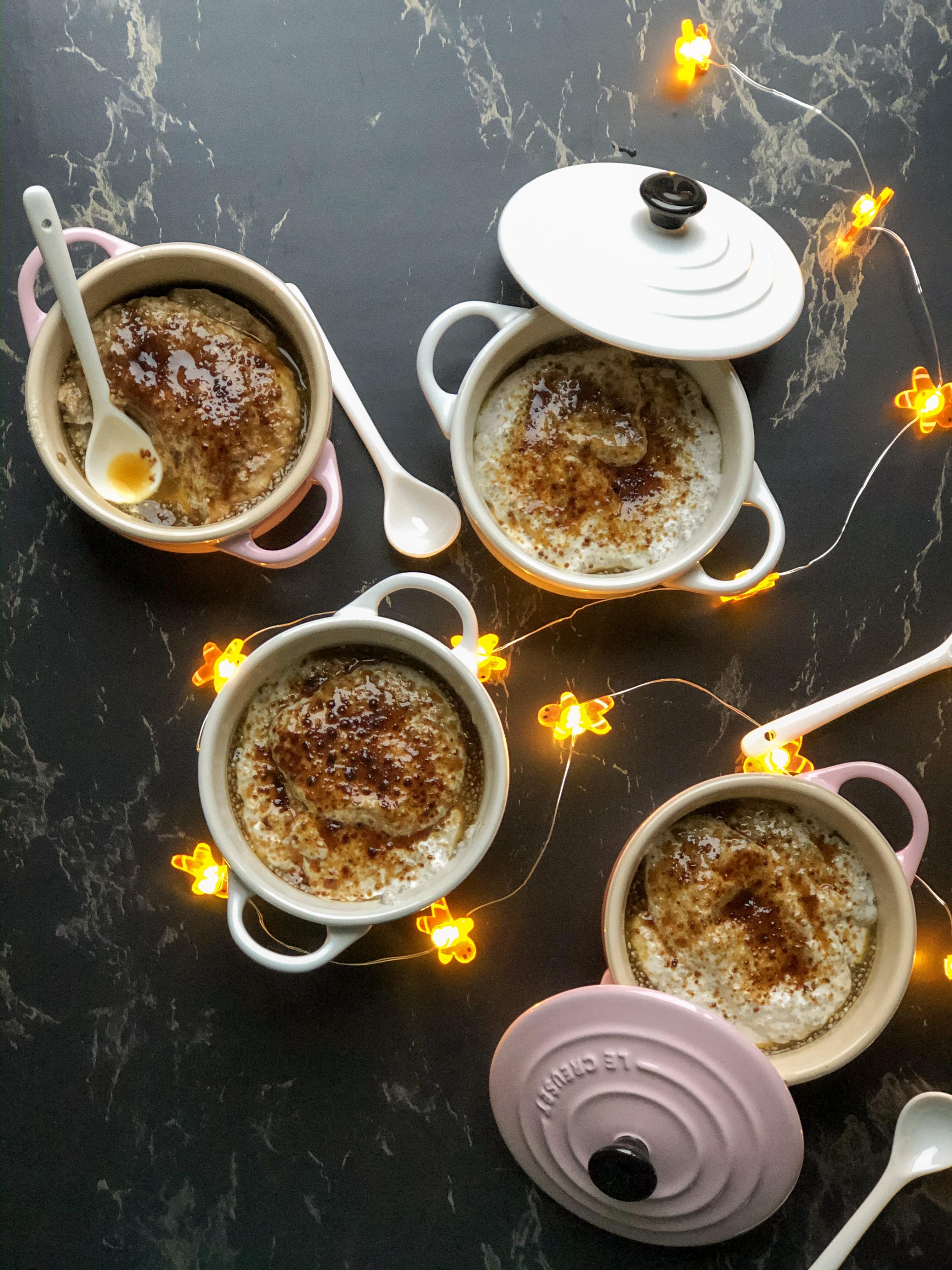 glutenvrij en vegan dessert kokos chia creme brulee