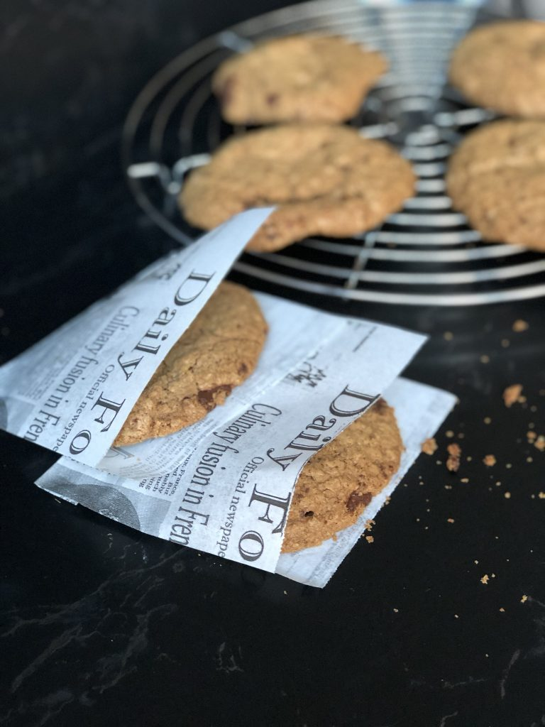 XXL Pecan Chocolate Chip Cookies