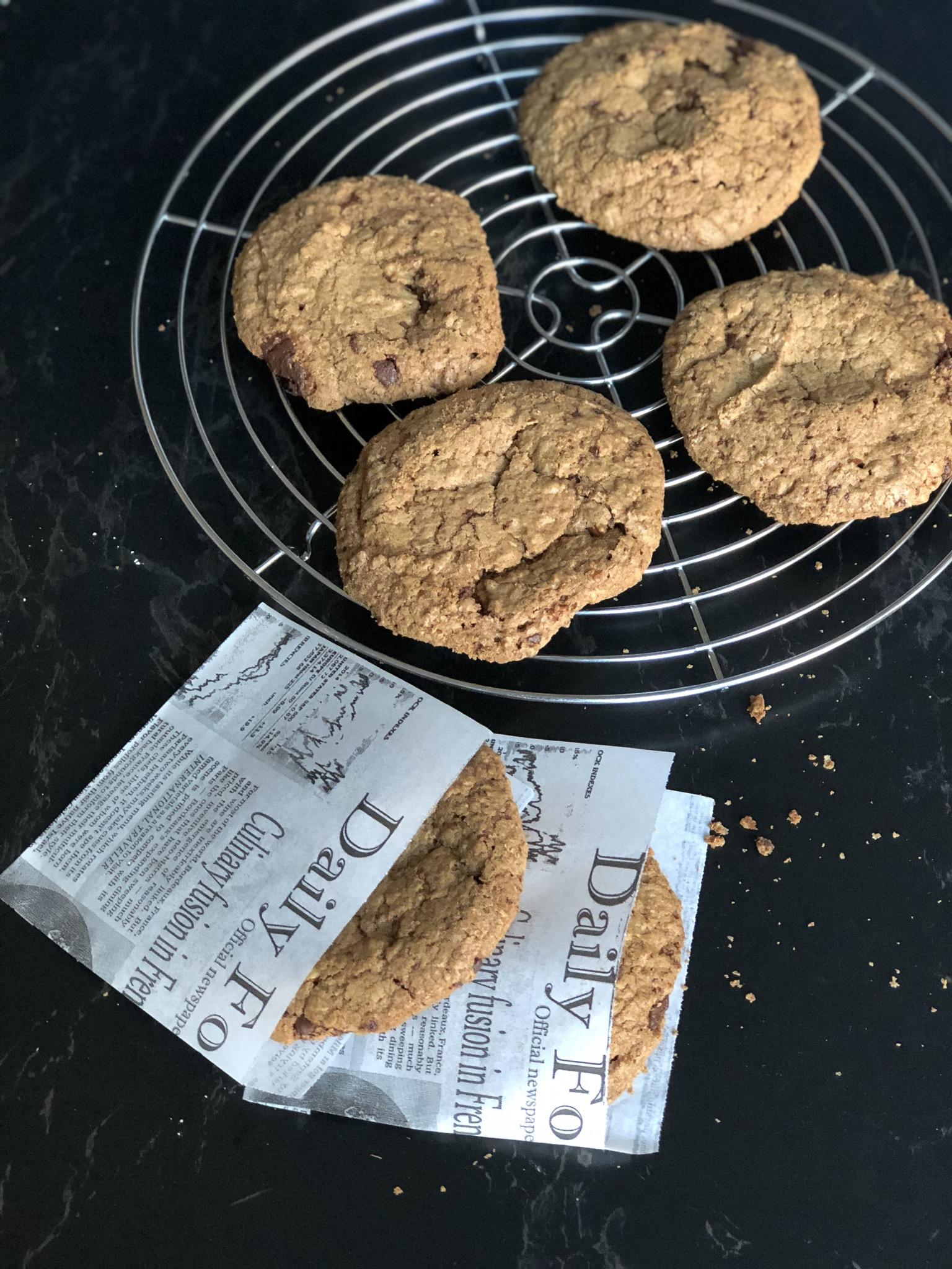giant glutenvrij chocolate chip cookie