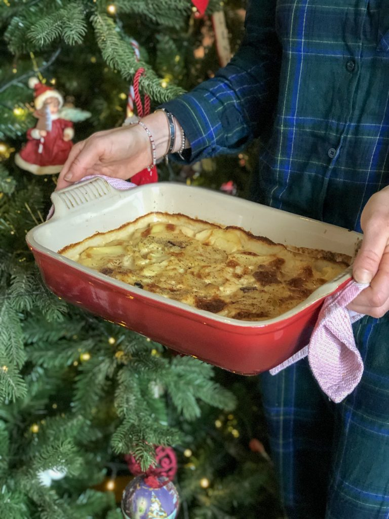Gratin van pastinaak, porcini en aardappel aka kerstpatatjes
