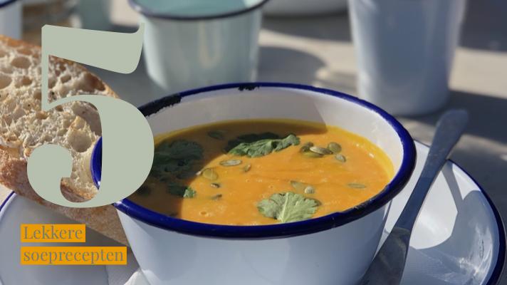5 heerlijke soeprecepten op een rijtje