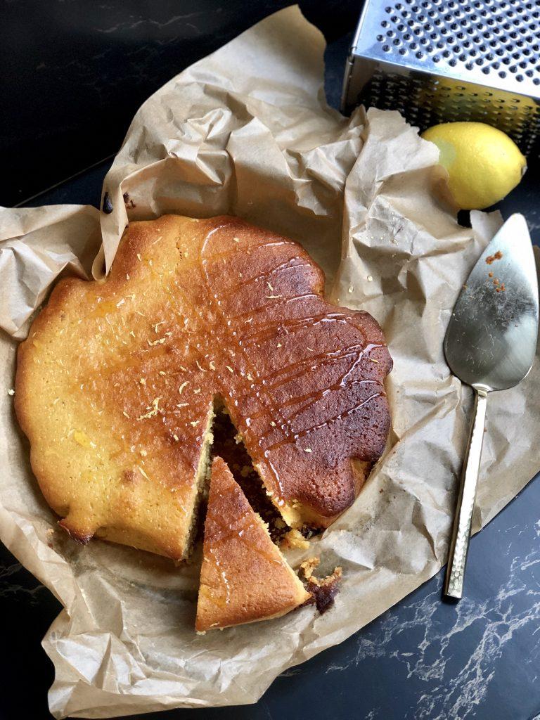 Amandelcake met citroen en honing