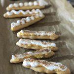 glutenvrije eclairs met citroencrème en meringue