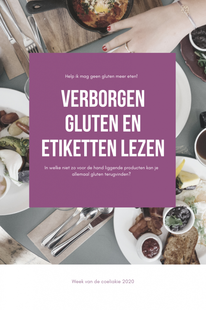 verborgen gluten en etiketten lezen