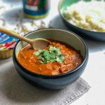 tikka masala kip met Elvea - glutenvrij en lactosevrij lekker Indisch