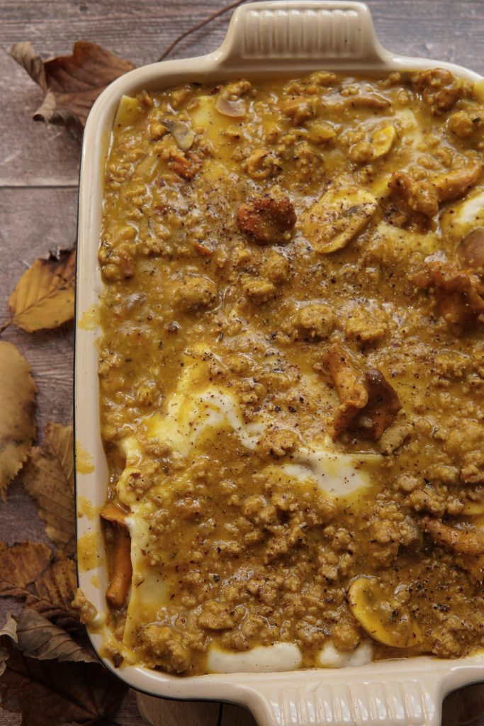 glutenvrije herfstlasagne met pompoen
