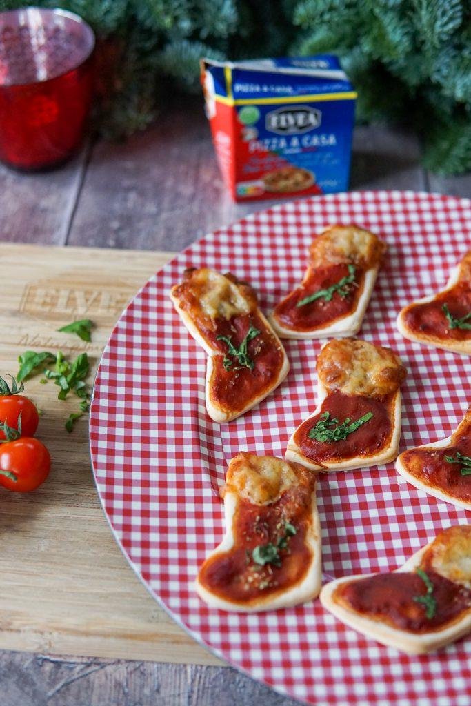 Mini kerstpizza's voor een gezellige apéro