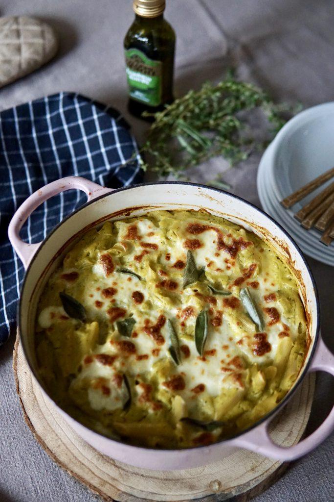 Carbonara glutenvrij en vol groentjes - veggie carbonara
