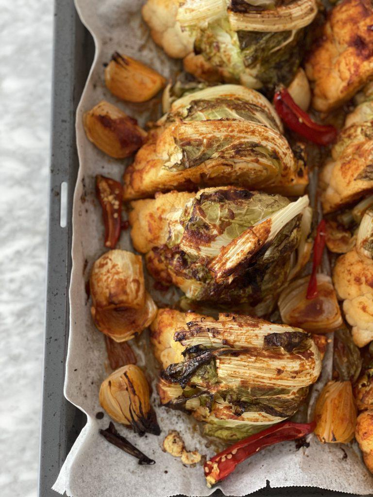glutenvrije chili bloemkool vegetarisch hoofdgerecht