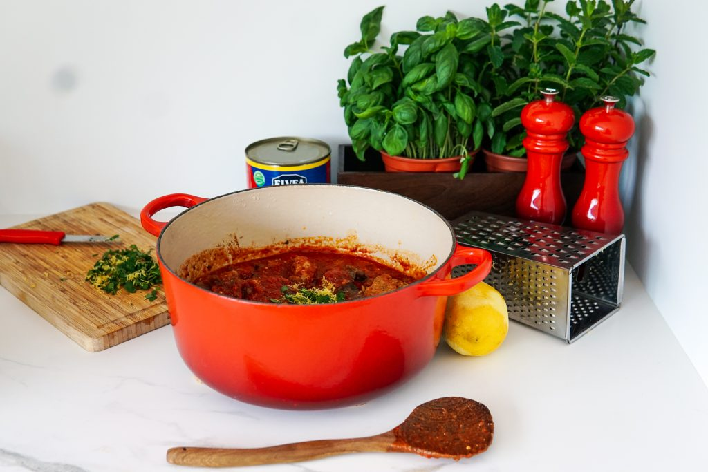 polpette al la norma glutenvrije balletjes in tomatensaus