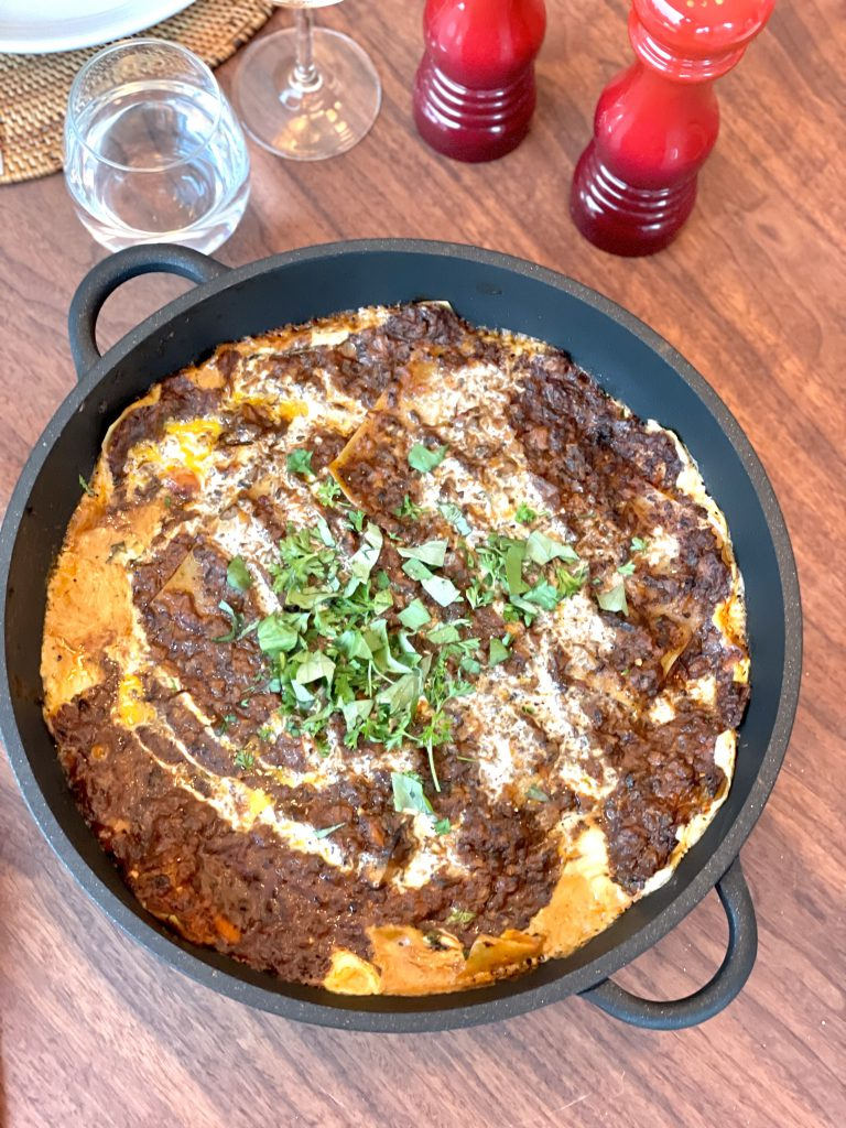 glutenvrije vegan lasagne