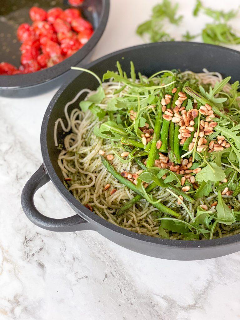 Pasta pesto met asperges – klaar in 20 minuutjes